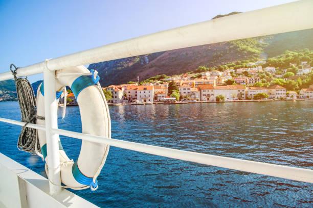 boka bay day cruise, montenegro - cruise ship stock photos and pictures