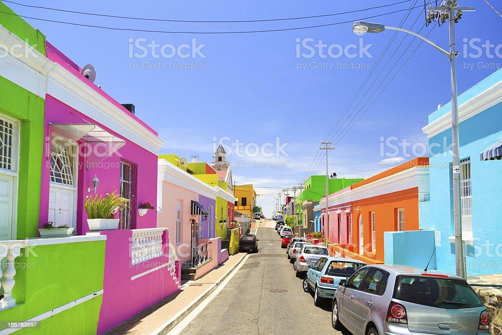 Bo-Kaap, Cape Town stock photo