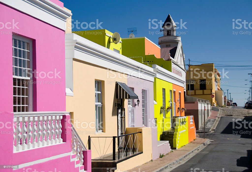 bokaap cape town stock photo