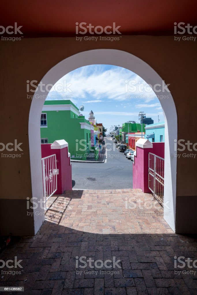 Bo-Kaap colorful homes in Cape Town, South Africa stock photo