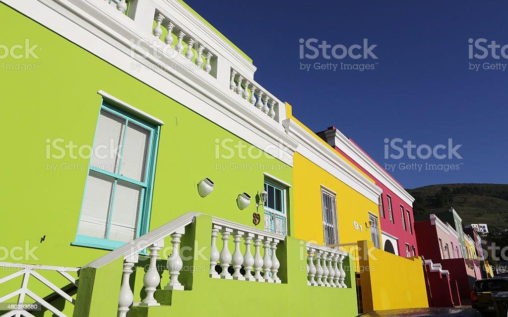 Bo-Kaap in Cape Town stock photo