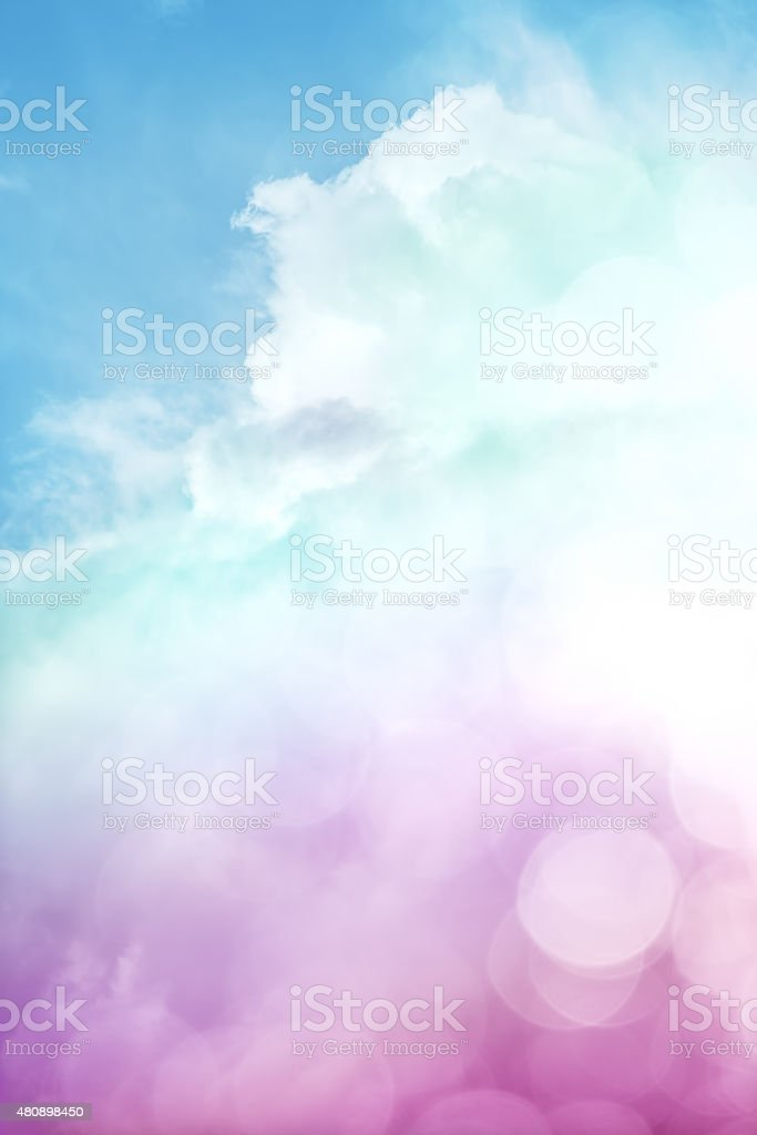 Bokah Clouds and Sky stock photo