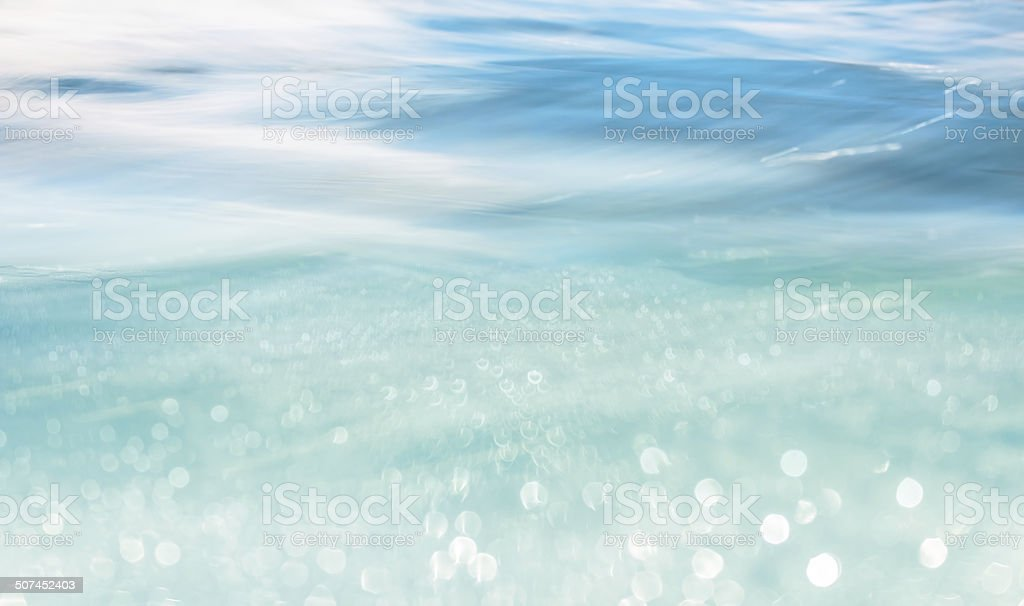 Bokah Wave stock photo