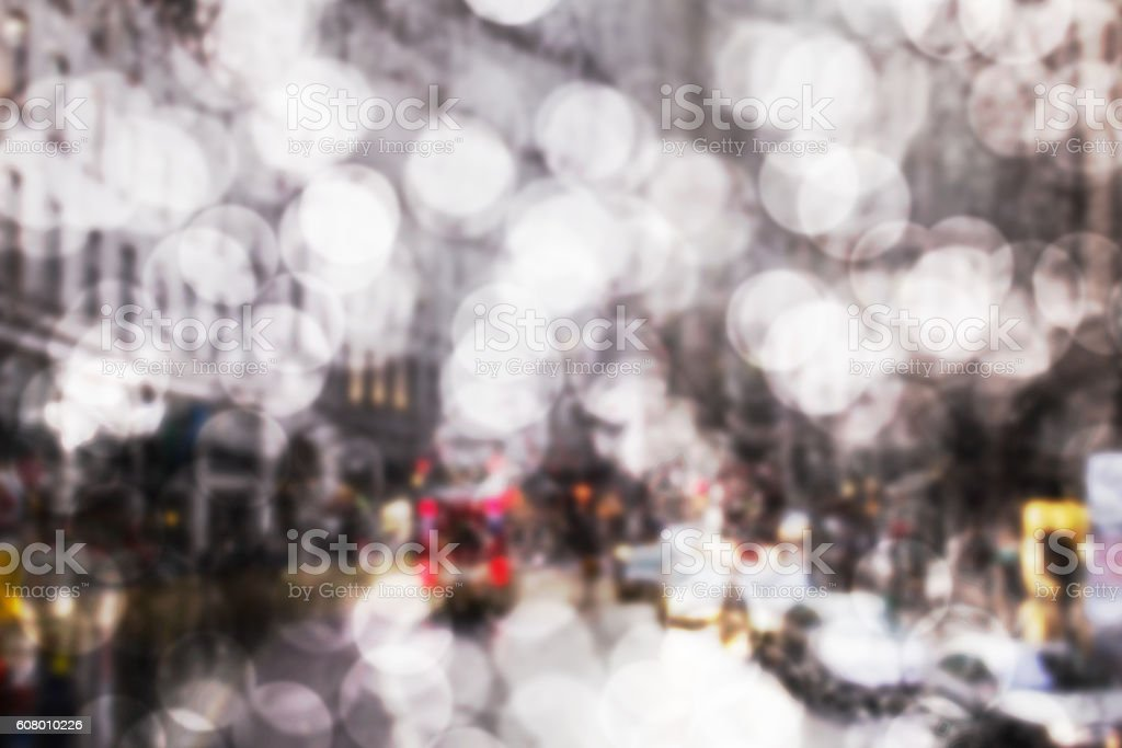 bokeh art background of city road traffic stock photo