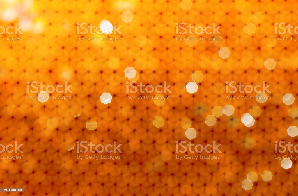 Bokeh background from bees honeycomb. natural stock photo