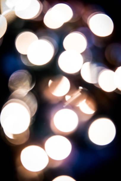 Bokeh background of Christmas lights stock photo