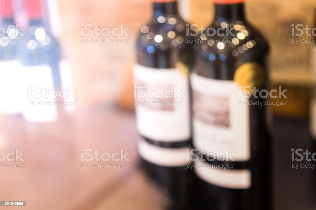 Bokeh Background of shopping in wine store royalty-free stock photo