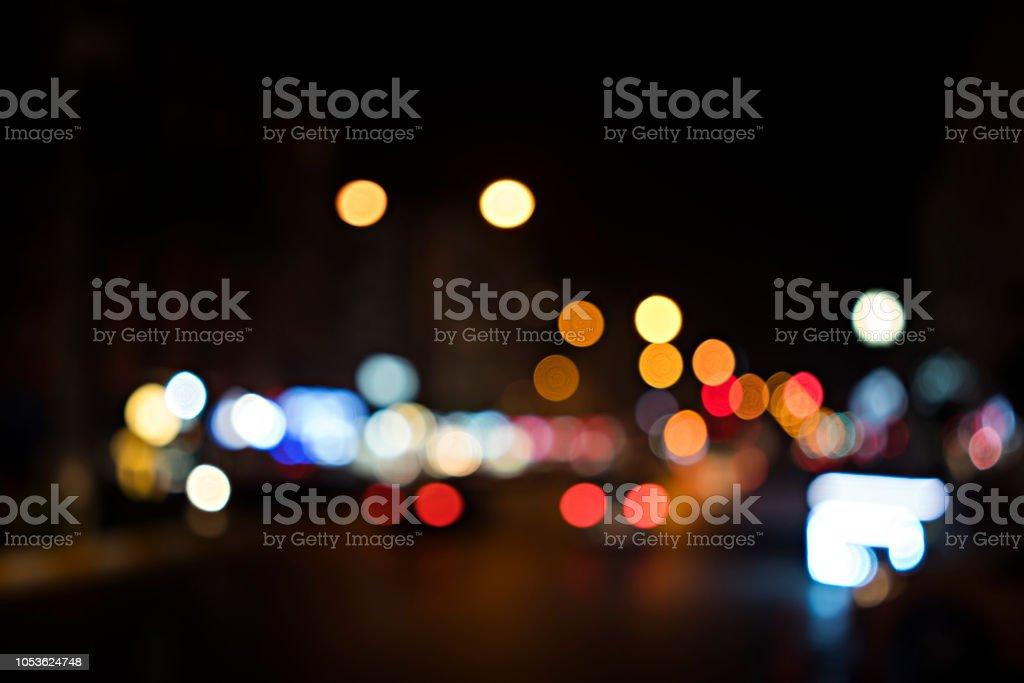 Bokeh arka plan şehir Istanbul'sokak stok fotoğrafı