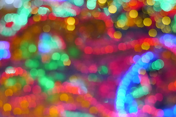 bokeh background multi color bokeh background dazzled stock pictures, royalty-free photos & images