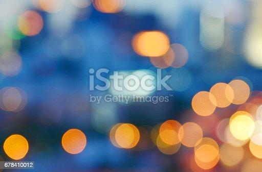 City night light blur bokeh background