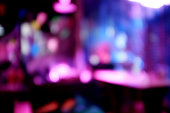 bokeh bar background with warm colorful lights.copy space