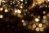 Bokeh & Blurred light in black background, Close up & Macro shot, Selective focus