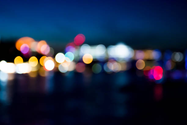 Bokeh city stock photo