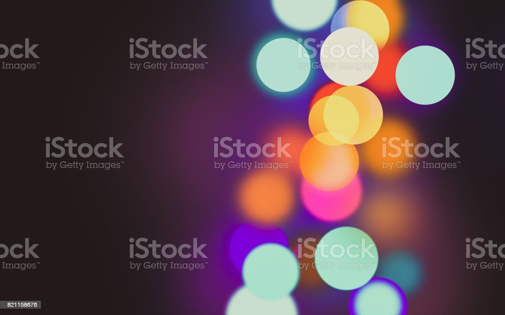 Bokeh colorful dot background stock photo