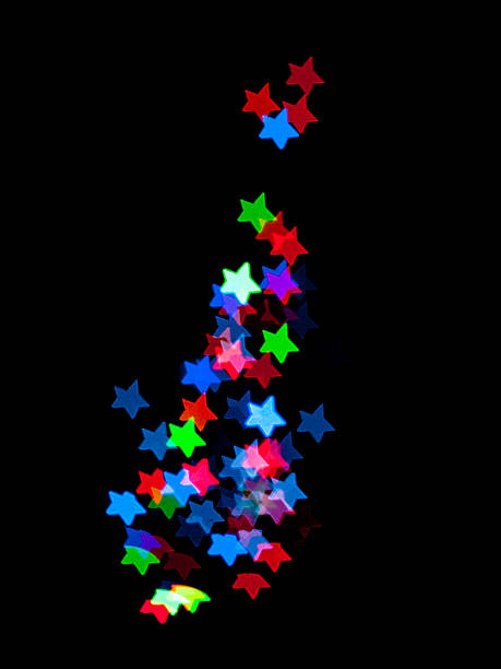 Bokeh Coloured Stars Abstract stock photo