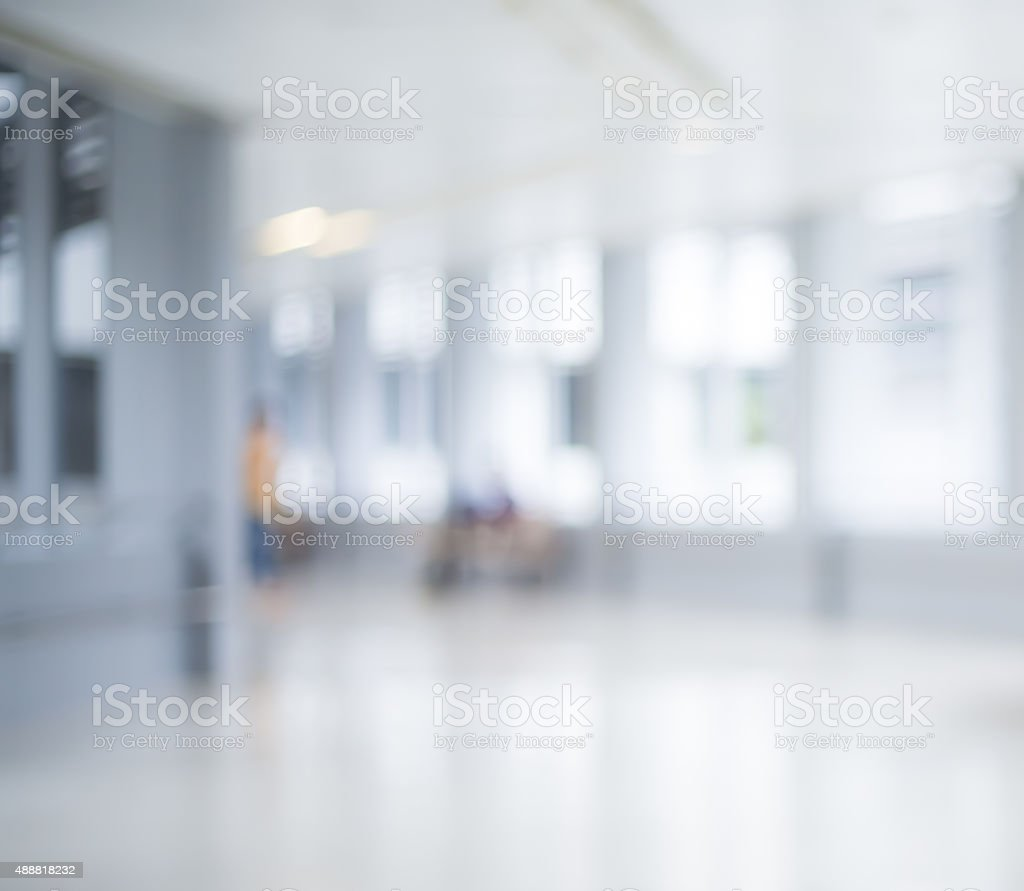 Bokeh defocused background  - Hospital and Staff stock photo