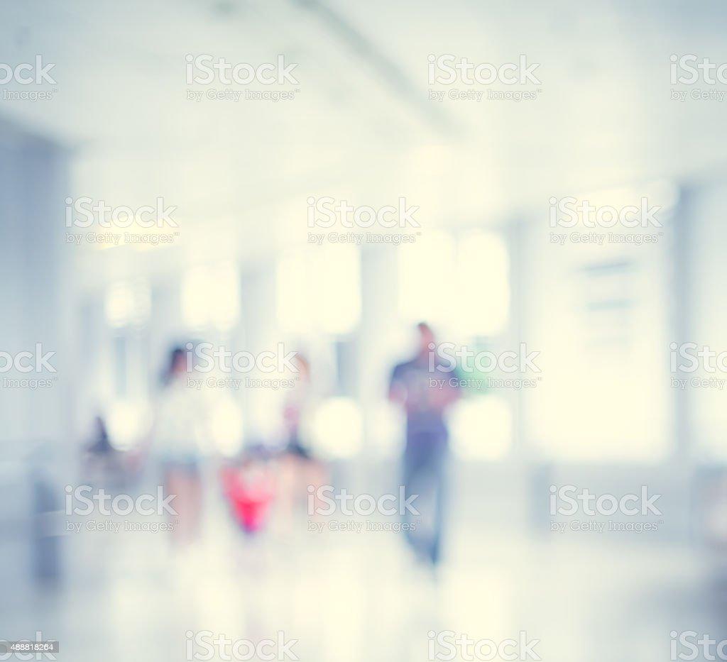 Bokeh Unscharf gestellt Hintergrund-Hospital und Personal – Foto