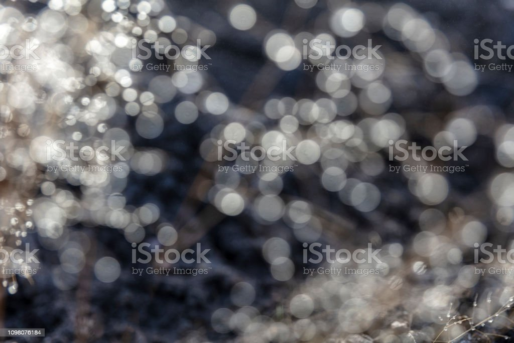 Bokeh dewdrops glitter stock photo