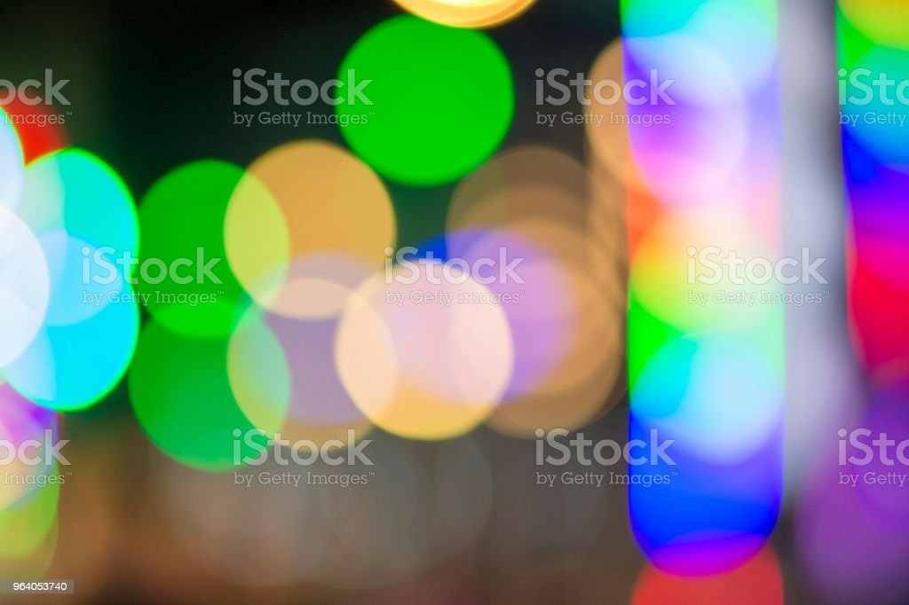 Bokeh from the lamp at night. - Royalty-free Abstract Stock Photo