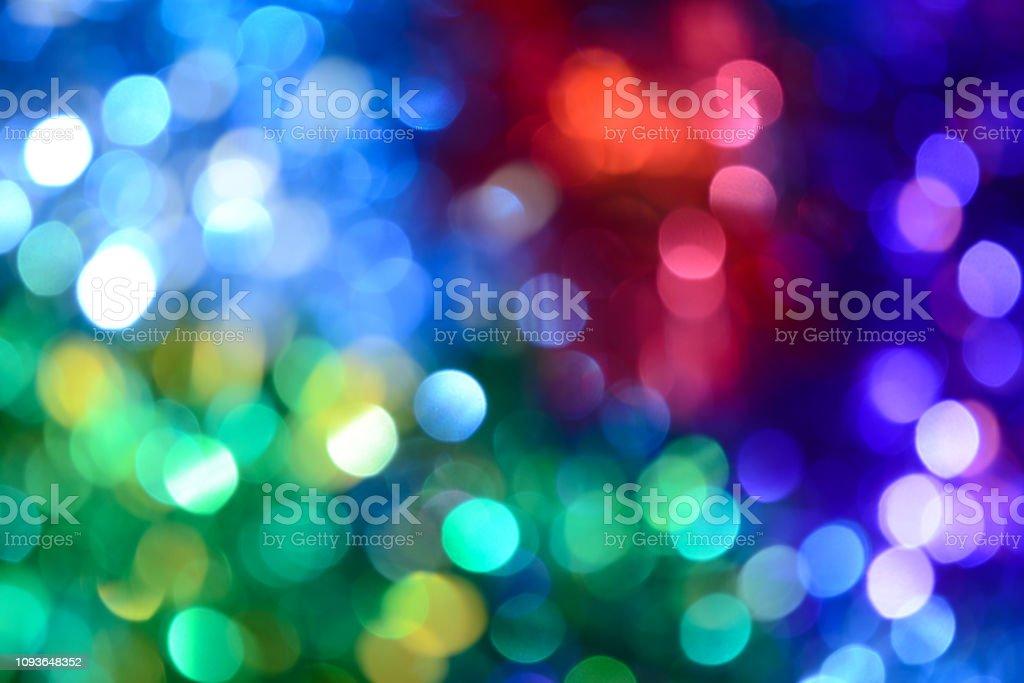 Bokeh Holiday Background Christmas Lights Glitter Defocused