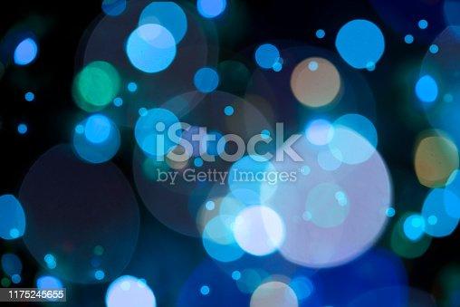 Bokeh In Blue Colors – Defocused Lights