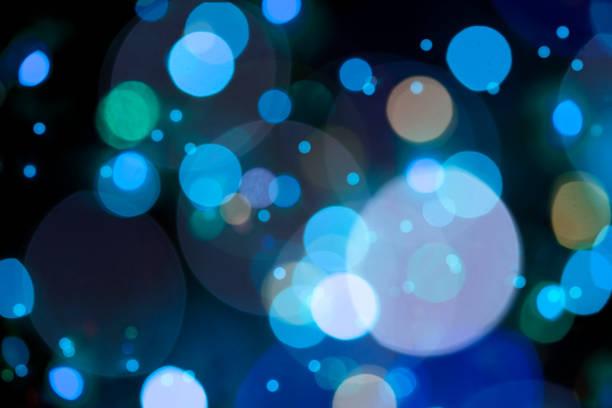 Bokeh In Blue Colors – Defocused Lights – Foto
