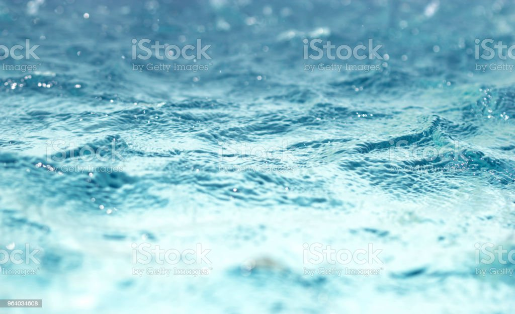 Bokeh light background in the pool - Royalty-free Abstract Stock Photo