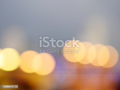 istock Bokeh light pattern in the city, defocused 1088845720