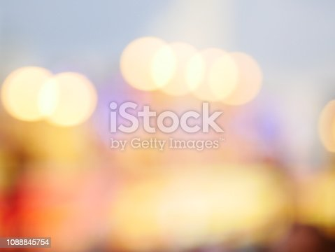 istock Bokeh light pattern in the city, defocused 1088845754