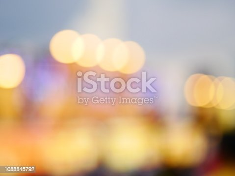 istock Bokeh light pattern in the city, defocused 1088845792