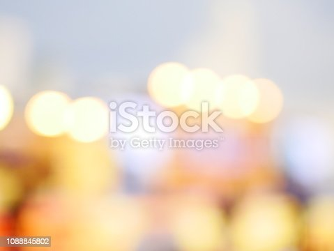 istock Bokeh light pattern in the city, defocused 1088845802