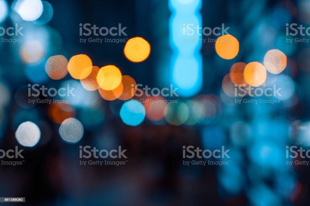 Bokeh light pattern in the city, defocused - foto stock