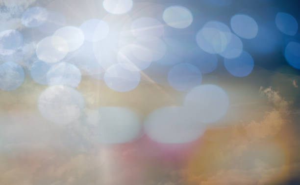 bokeh light - praise and worship stock photos and pictures
