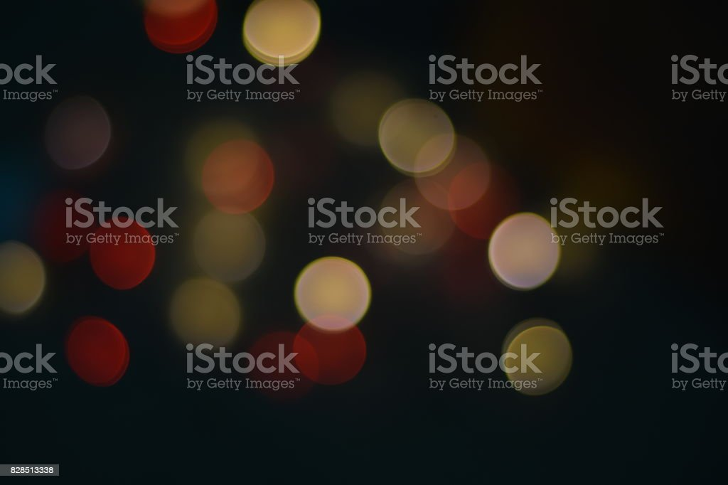 Bokeh Lights in Dark Mood Background stock photo