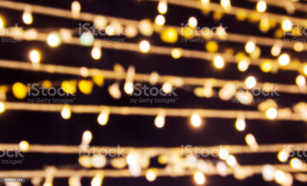 Bokeh lights of christmas and new year decoration stock photo