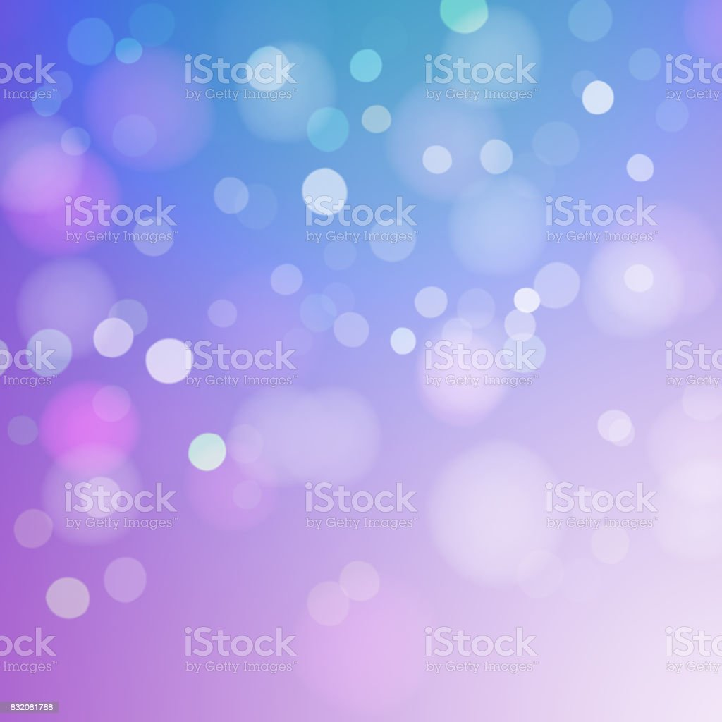Bokeh Lights On colored Background stock photo