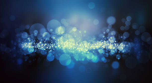 Bokeh lights sparkle background stock photo