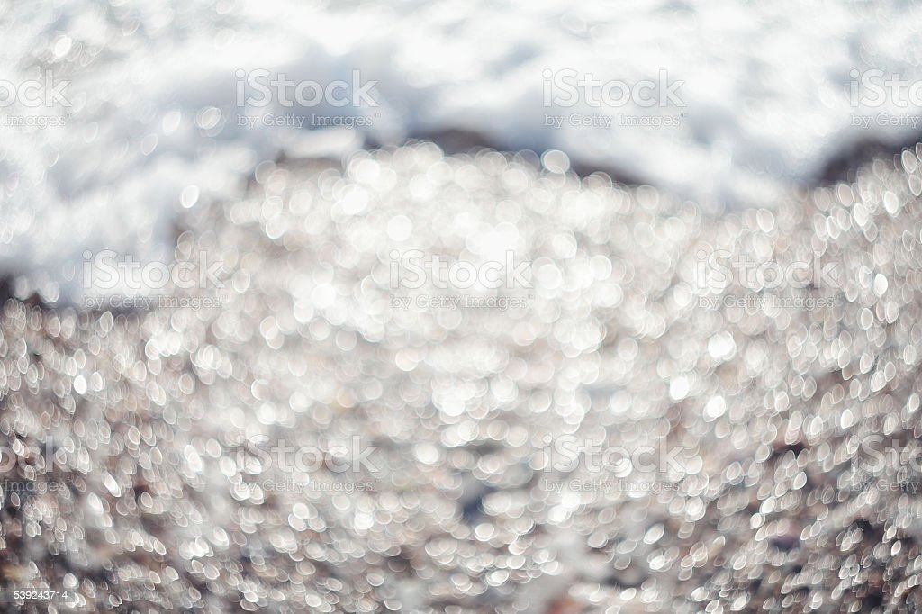 Bokeh lights.Lights on sea background.Waves.Underwater.Natural. royalty-free stock photo