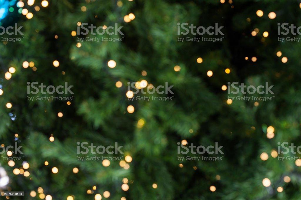 Bokeh of Light on Christmas tree - foto de acervo