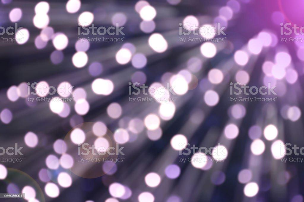 Bokeh van licht violet kleur met flare en vervagen verplaatsen - Royalty-free Abstract Stockfoto