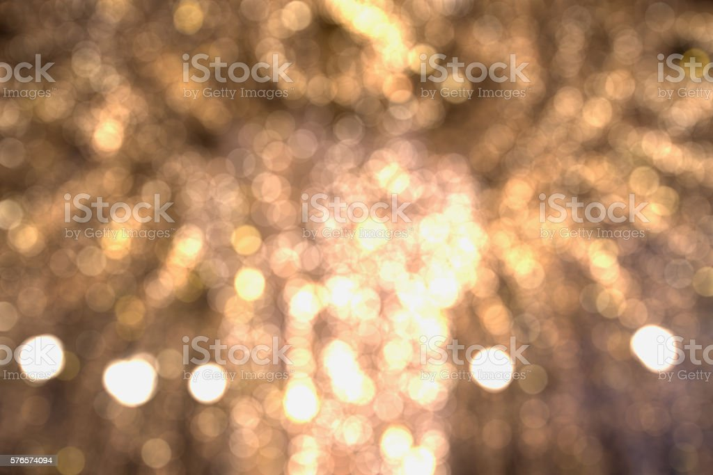 Bokeh of lights Merry Christmas and New Year. stock photo