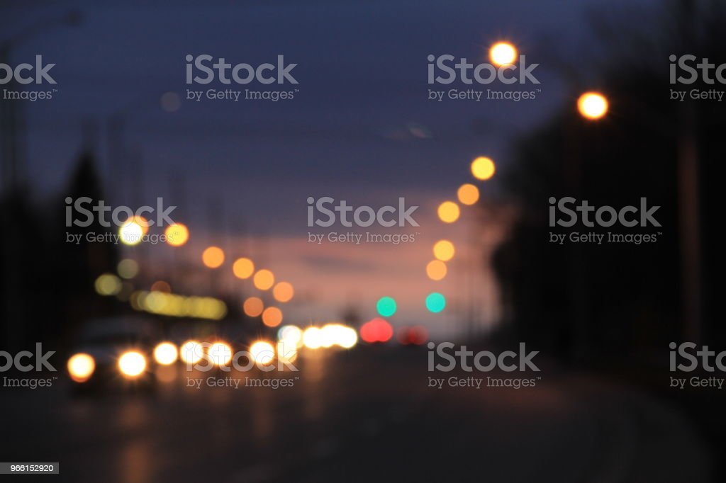 Bokeh Streetlights - Royalty-free Abstrato Foto de stock