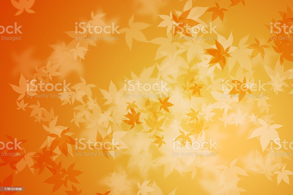 Boken fall leaves royalty-free stock photo
