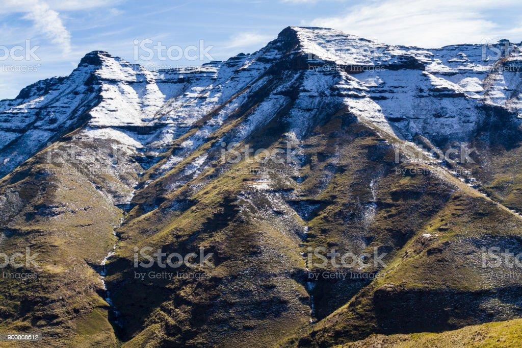 Bokong Snowy Peaks stock photo