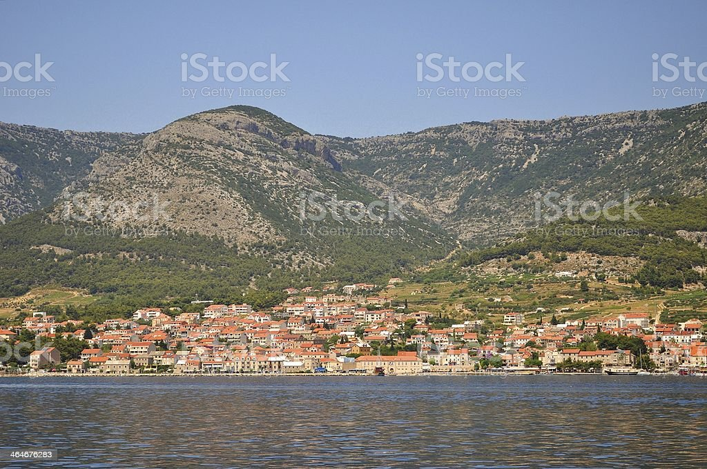Bol town on island Brac. Croatia stock photo