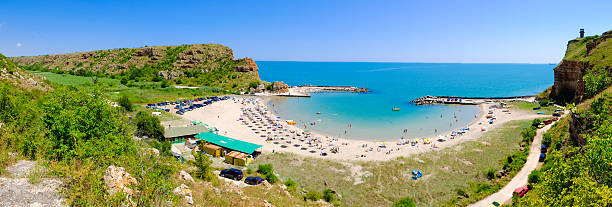 Bolata bay Bulgaria. Panoramic image. stock photo