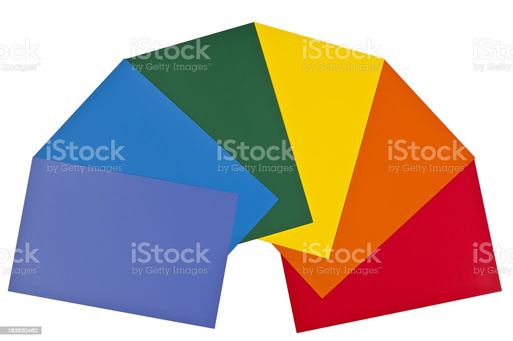 Bold Paint Color Chart Cards royalty-free stock photo
