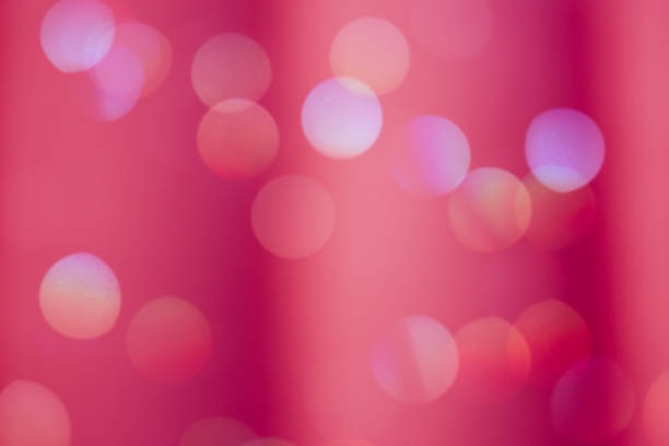 bold red color defocused background light bokeh - disco lights stock photos and pictures