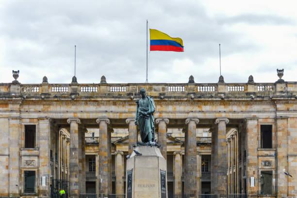 Bolivar Square - Bogota, Colombia stock photo