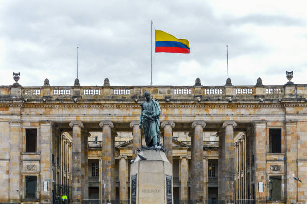 bolivar square - bogota, colombia - colombia stock photos and pictures